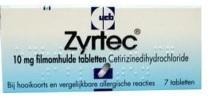 Zyrtec tabletten | Neus.nu | Platform van KNO-artsen